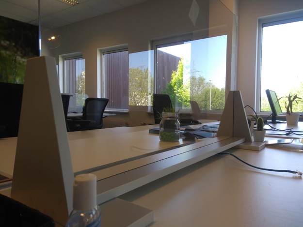 Picture of Mrs Protective Panel -  opzetwand  in dun gehard glas 160*80